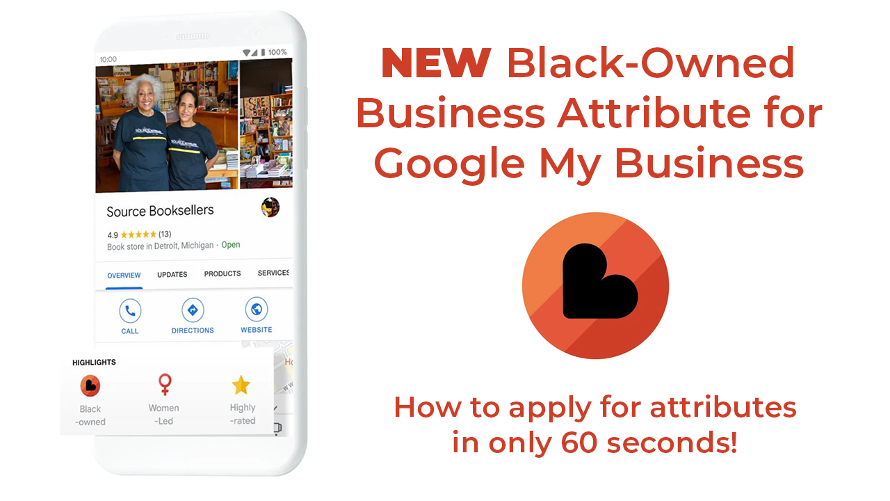 web design - Black Owned Business Attribute Google My Business